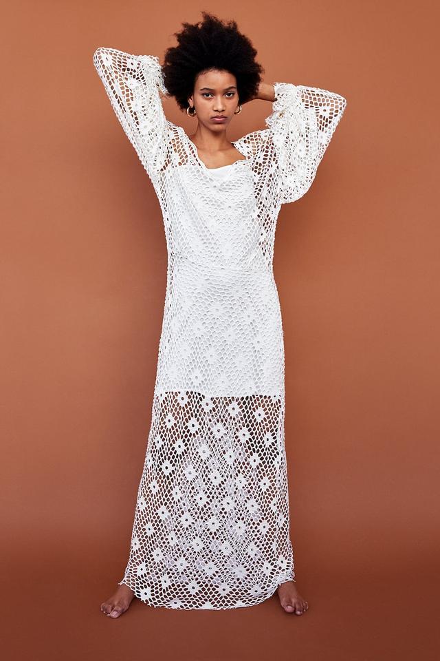 Zara Long Mesh Dress