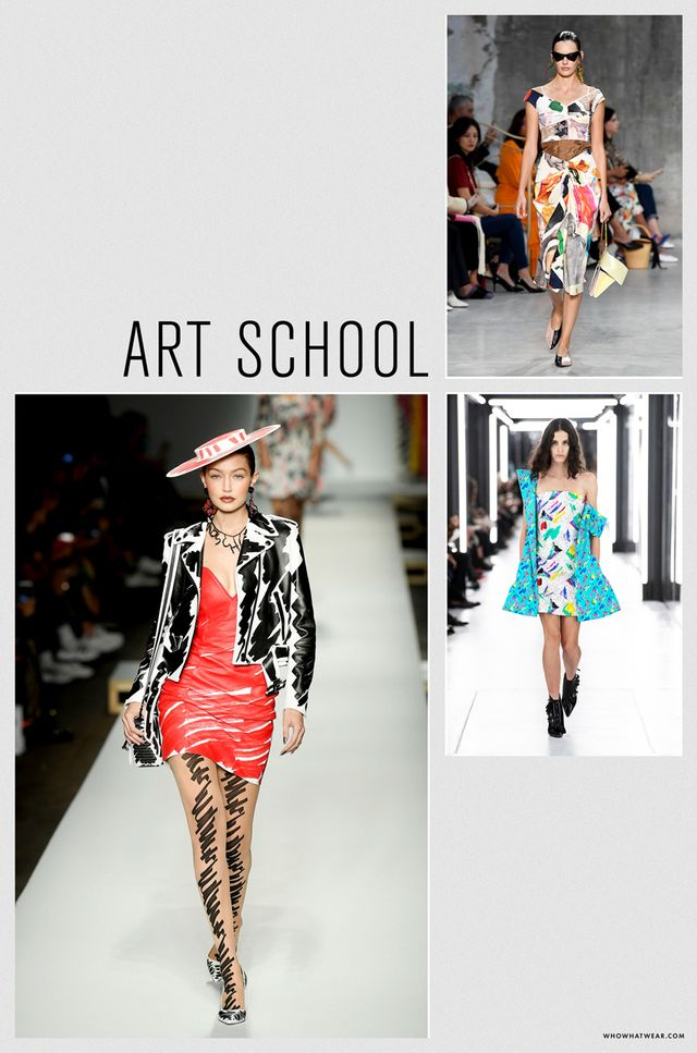 Spring 2019 fashion trends: art school