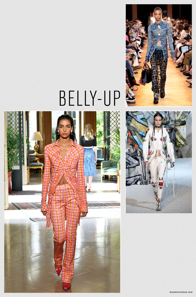 Spring 2019 fashion trends: belly-up