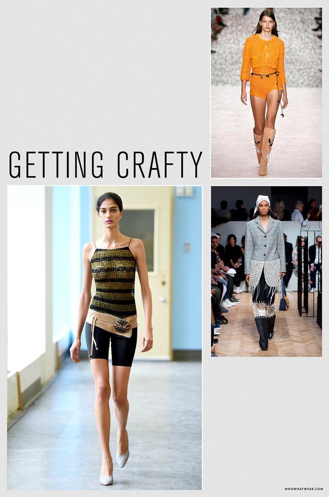 Spring 2019 fashion trends: getting crafty
