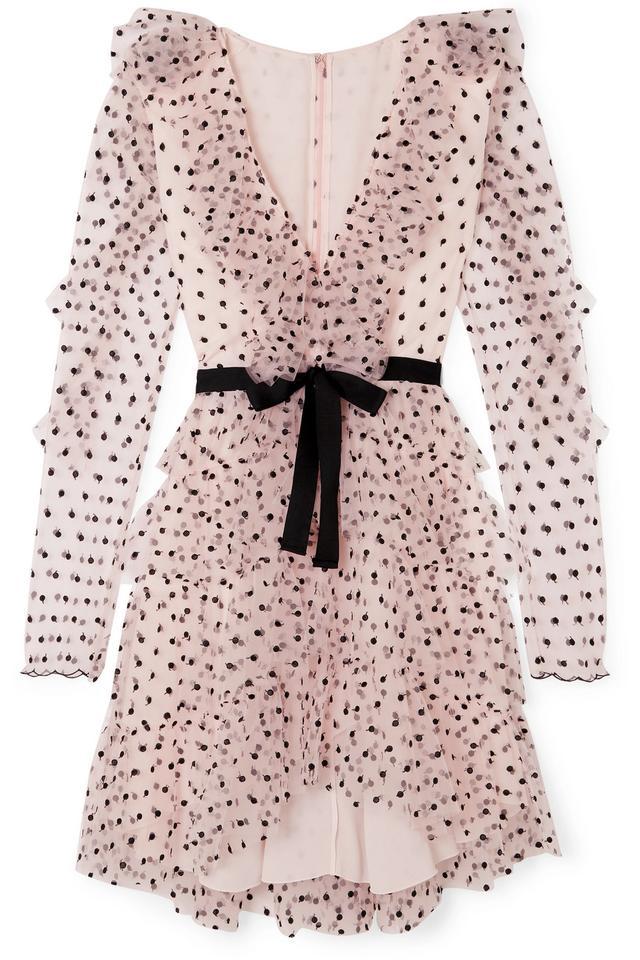 Ruffled Point D'esprit Tulle Dress