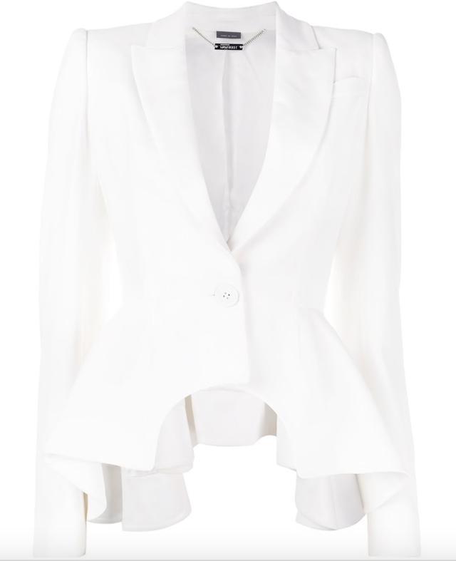 peplum detail blazer