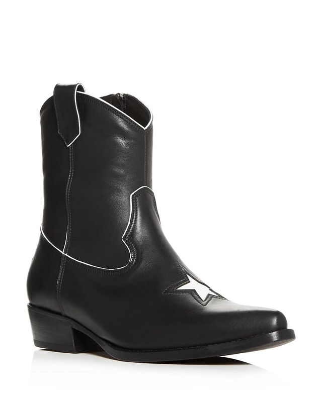 Women's Elton Leather Low-Heel Western Boots