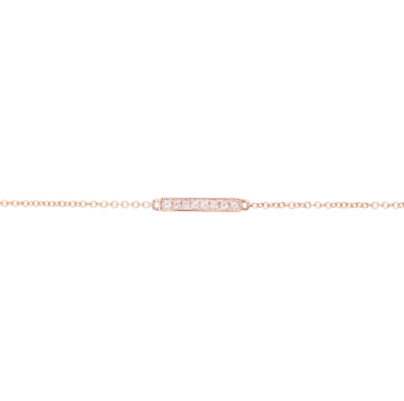 Luna Skye 14KT Gold Diamond Bar Bracelet