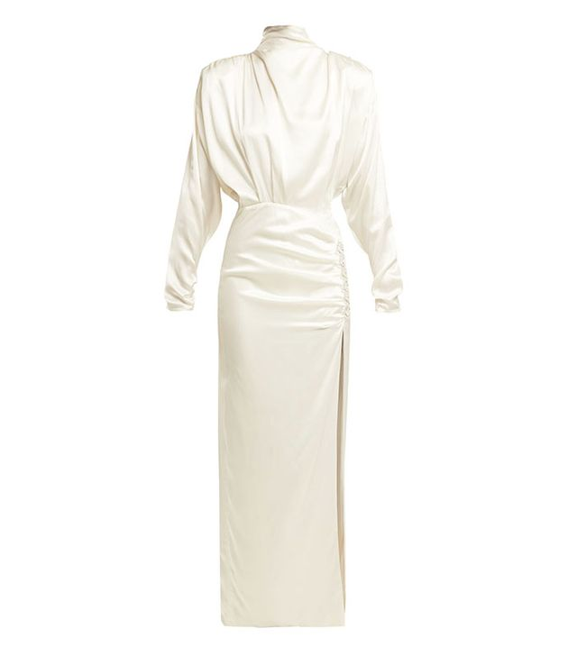 Celebrity party outfits: Alessandra Rich white dress