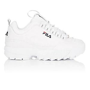 Women's Disruptor 2 Lux Leather Sneakers - White Size 8.5