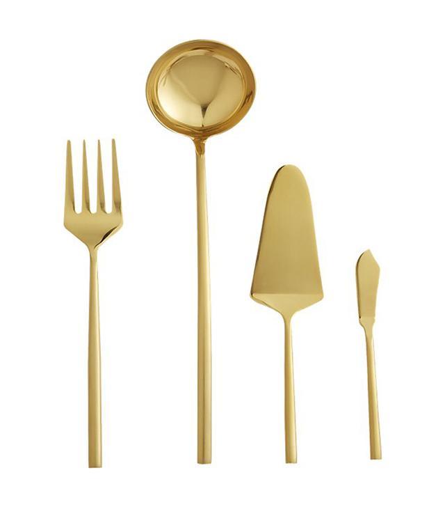 4-Piece Rush Gold Serving Utensil Set