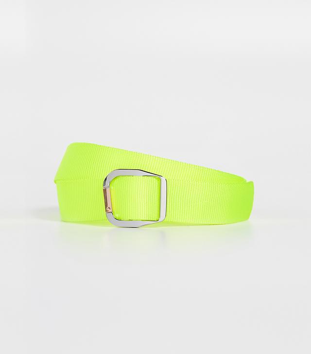 Neon Textured-leather Belt