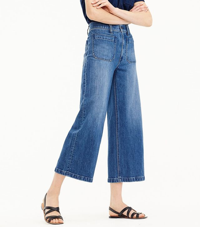 J.Crew Point Sur Wide-Leg Crop Jeans