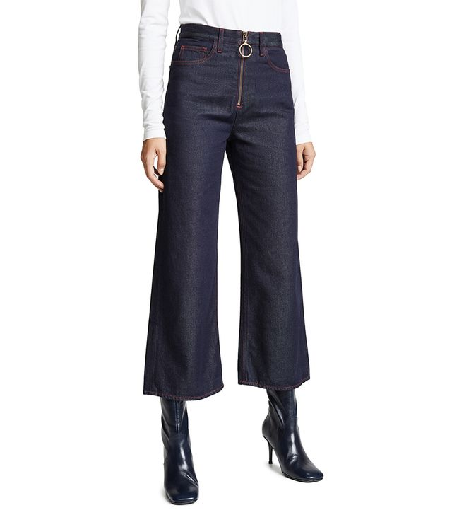 Caron Wideleg Jeans With Contrast Stitching
