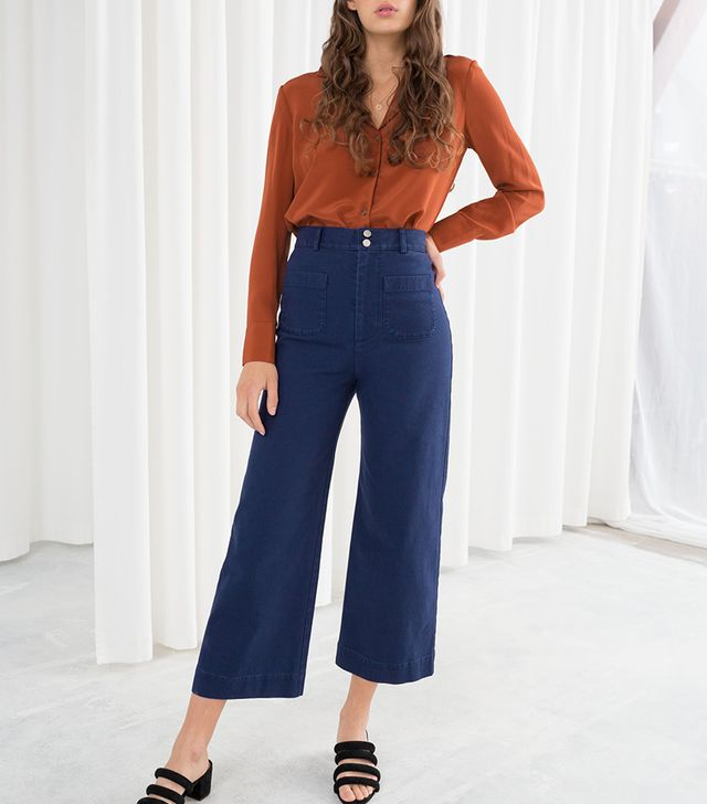& Other Stories Stretch Workwear Denim Trousers