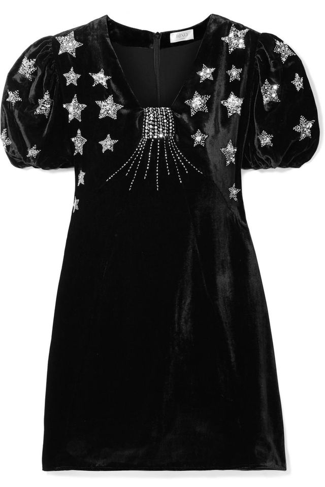 Bambi Sequin-embellished Velvet Mini Dress