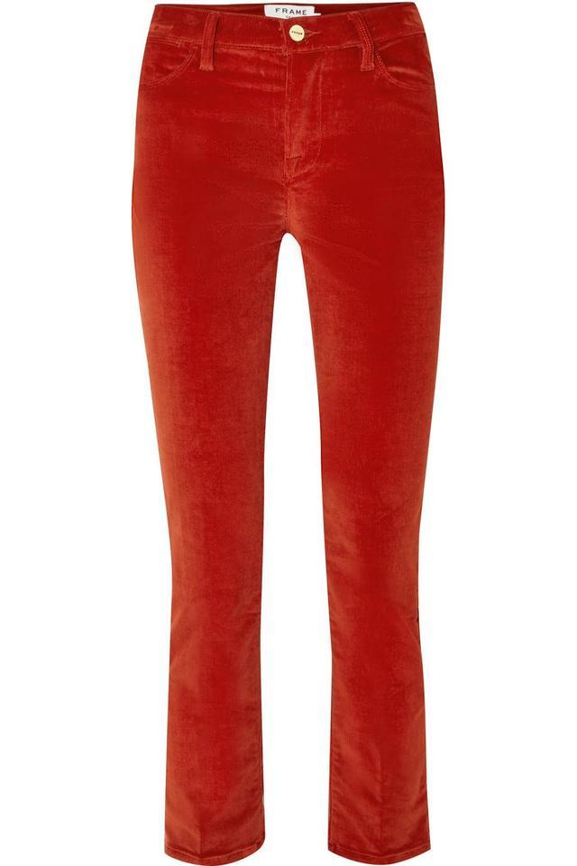 Le High Cotton-blend Corduroy Straight-leg Pants