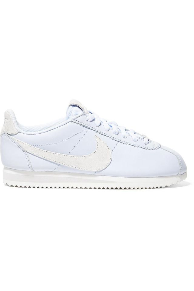 Classic Cortez Faux Suede-trimmed Leather Sneakers