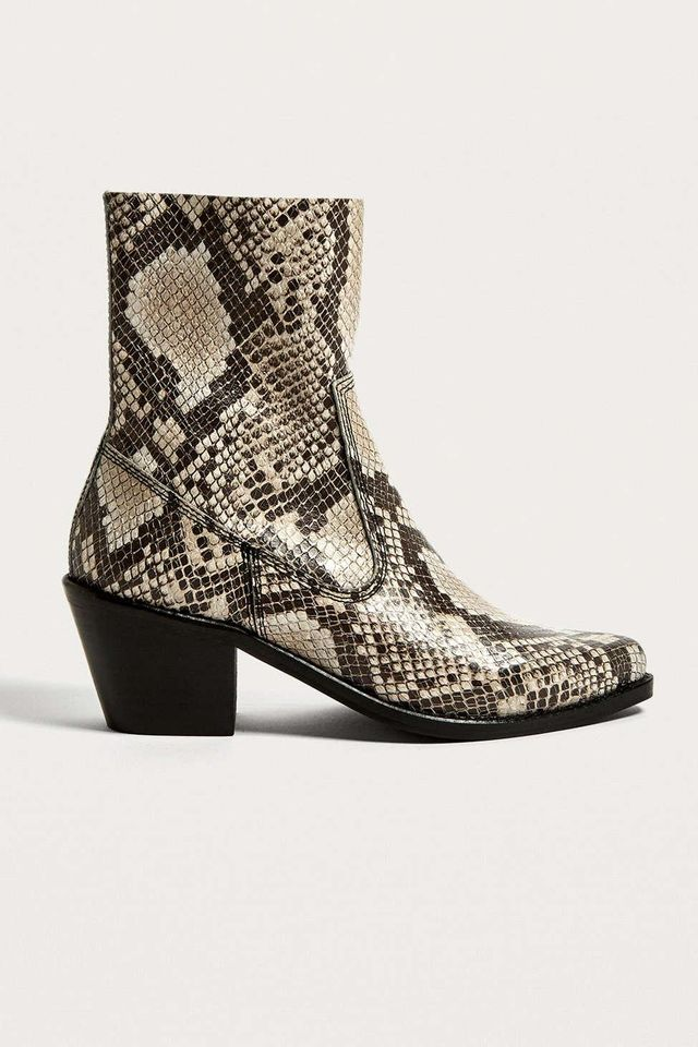 UO Bronco Snake Print Western Boots