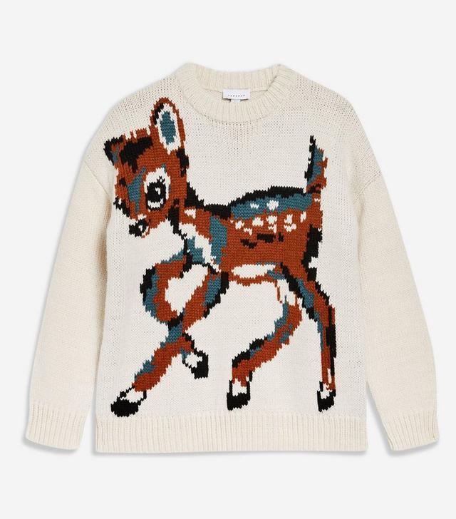 Topshop Animal Deer Jumper