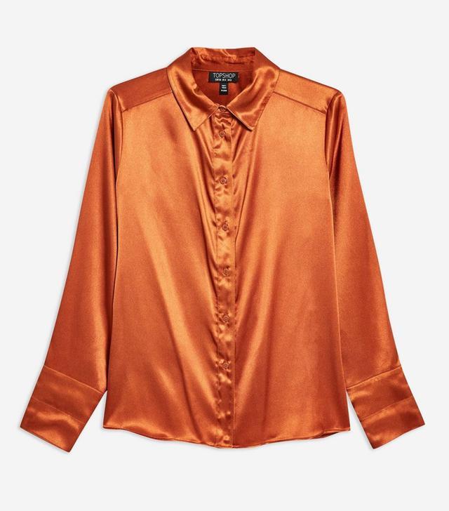 Topshop Satin Shirt