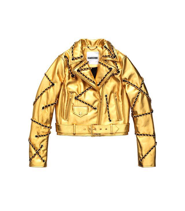 H&M x Moschino Leather Biker Jacket