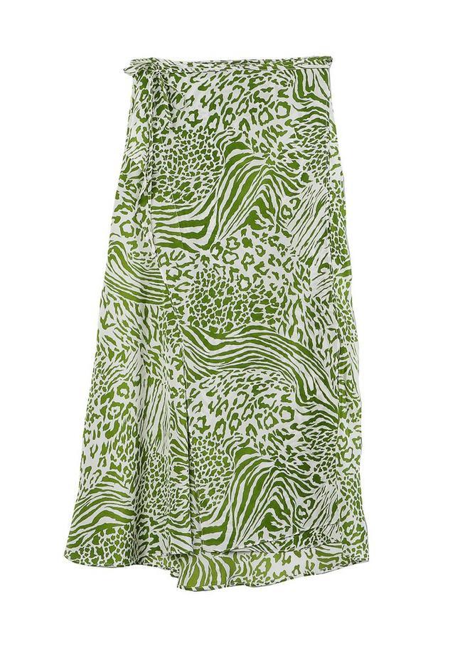 Ciao Lucia Carlotta Skirt in Green Leopard