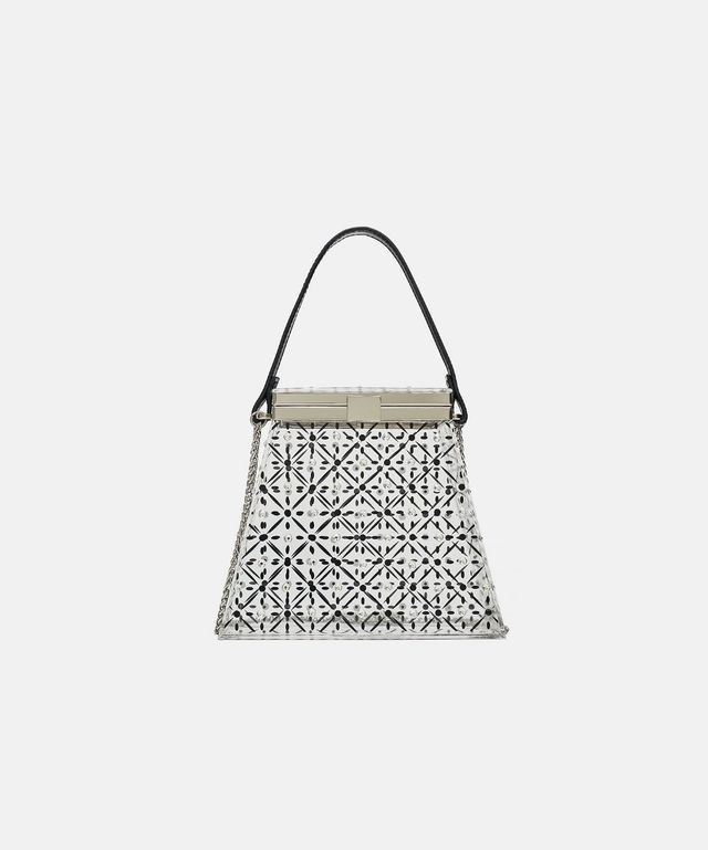 Zara Box Bag With Sparkly Details