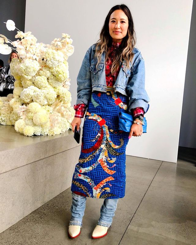 Office outfit formulas of successful women: Caroline Huang Maguire
