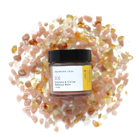 Aquarian Soul Sunstone and Citrine Radiance Balm