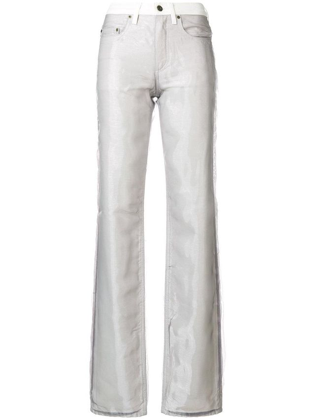 bootcut layered jeans
