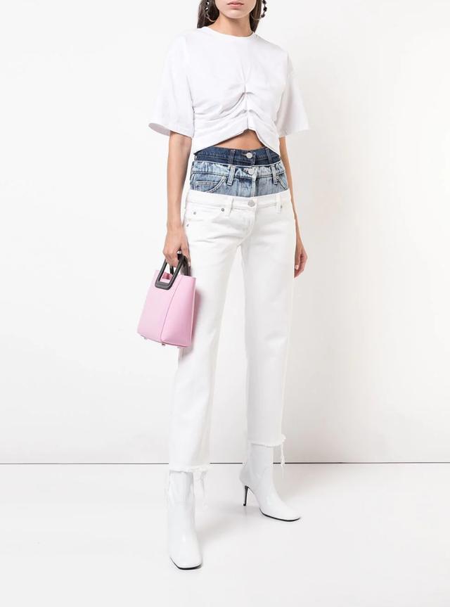 layered waistband jeans