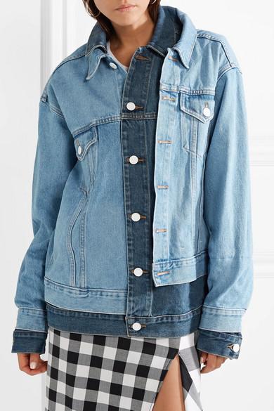Oversized Layered Denim Jacket