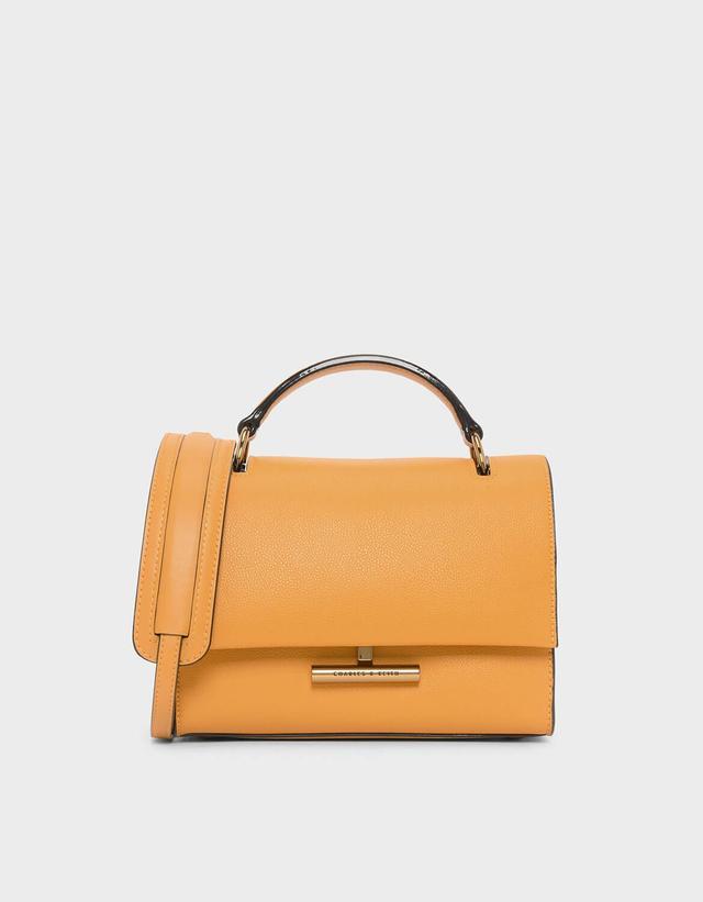 Charles & Keith Push-Lock Front Flap Bag