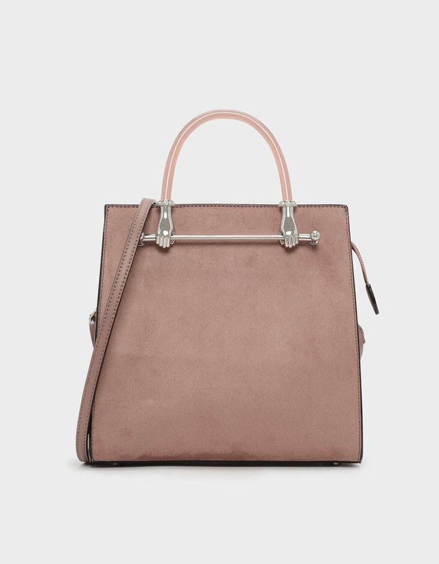 Charles & Keith Curved Handle Tote Bag