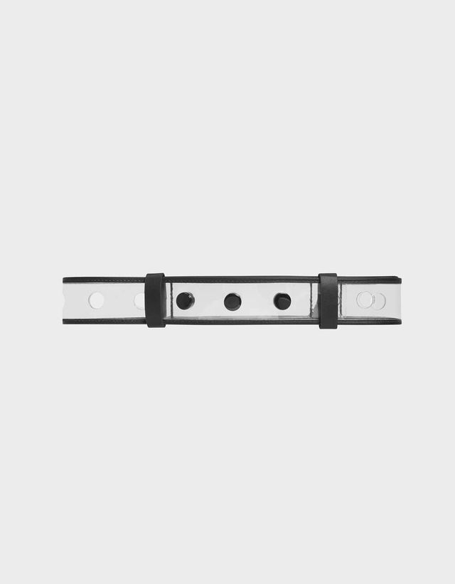 Charles & Keith Contrast Trimming Detail See Through Belt