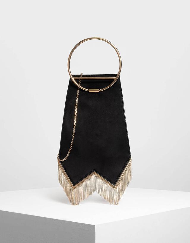Charles & Keith Circular Top Handle Bag