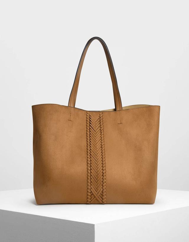Charles & Keith Weave Detail Tote Bag
