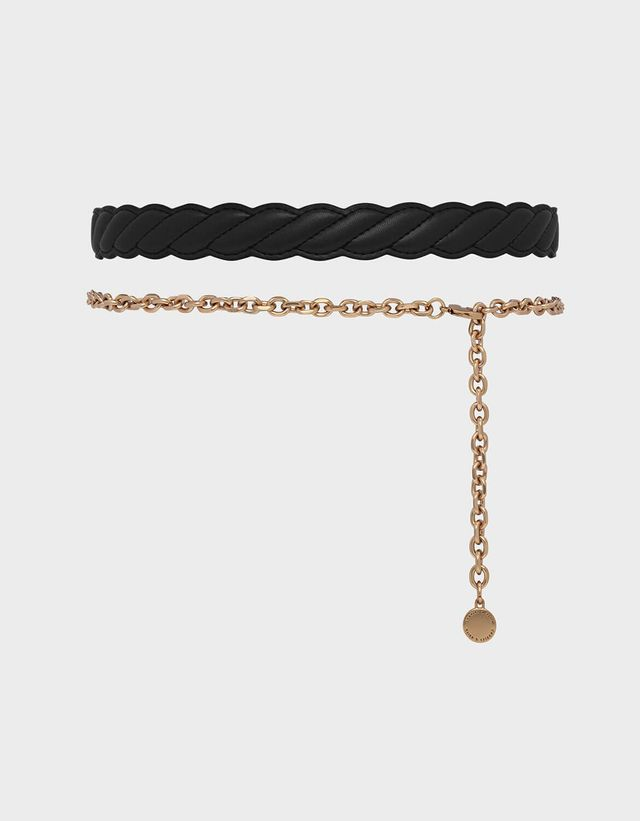 Charles & Keith Braid and Chain Detail Belt
