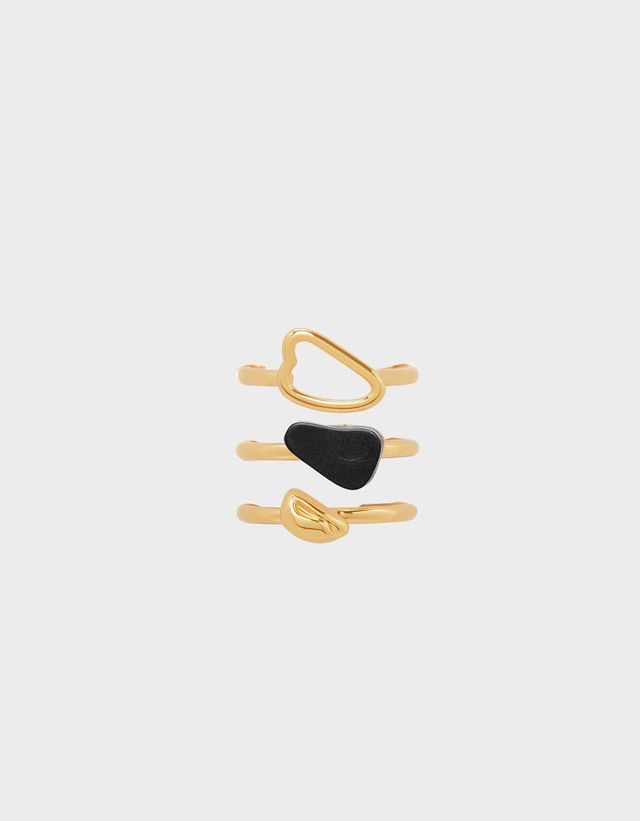 Charles & Keith Semi-Precious Stone Stackable Rings