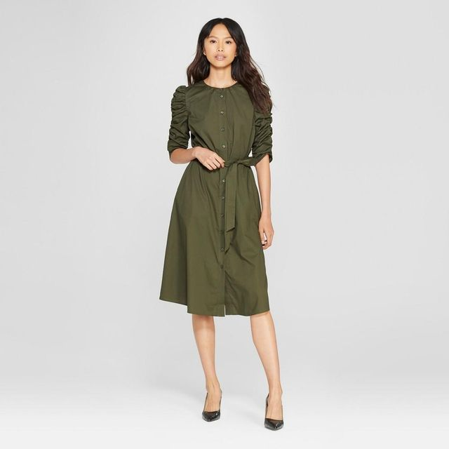 Short Shirred Sleeve Dress
