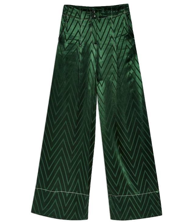 Topshop Chevron Contrast Stitch Trousers