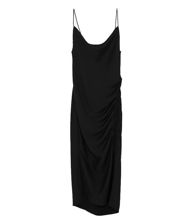 Zara Satin Draped Camisole Dress