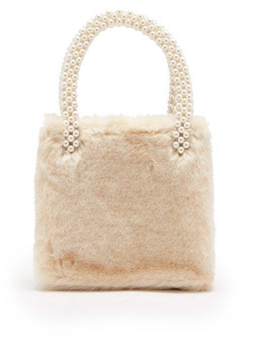 - Una Faux Fur Bag - Womens - White