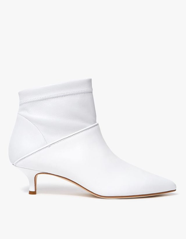 Jean Ankle Boot in Bright White