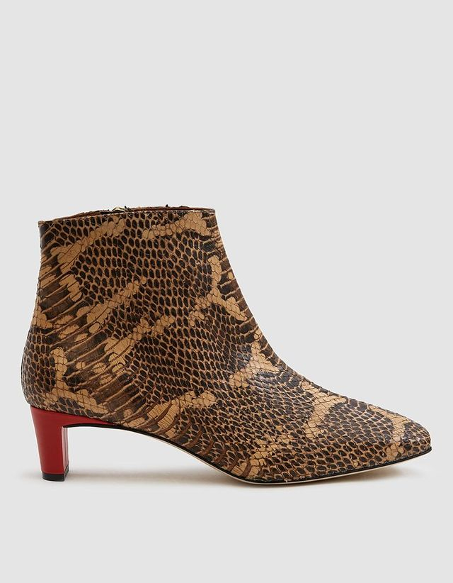 Clusia Snakeskin Embossed Ankle Boot