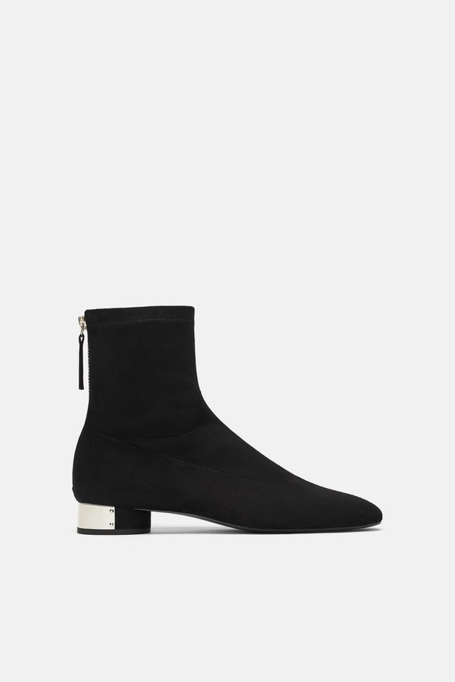 Zara Flat Pieced Ankle Boots