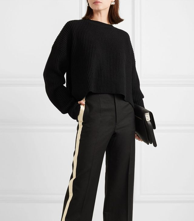 Ribbed Wool And Cashmere-blend Sweater