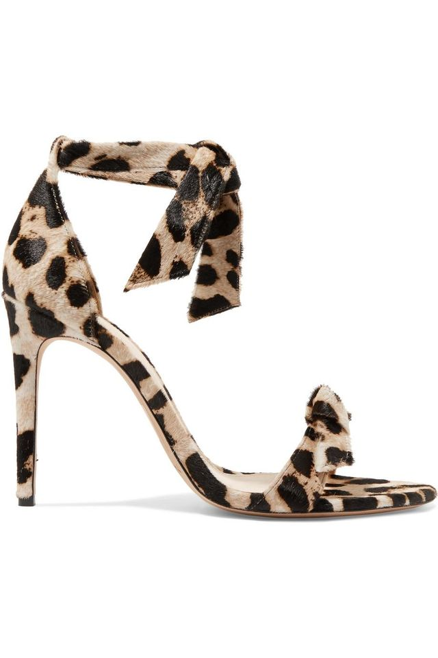 Clarita Bow-embellished Leopard-print Calf Hair Sandals