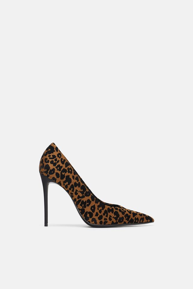 Zara Printed High Heeled Shoes