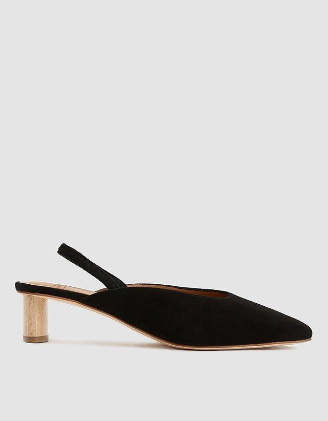 Pia Slingback Heel in Black