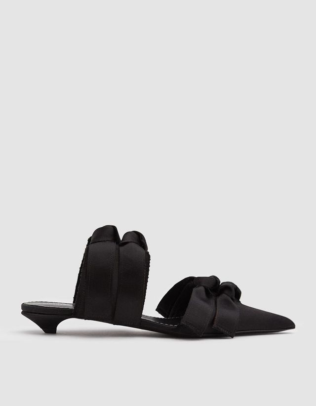 Knotted Satin Mule