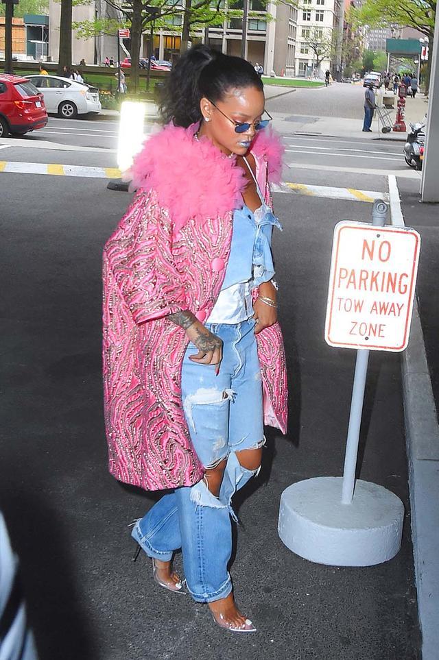 Rihanna Wearing Mules