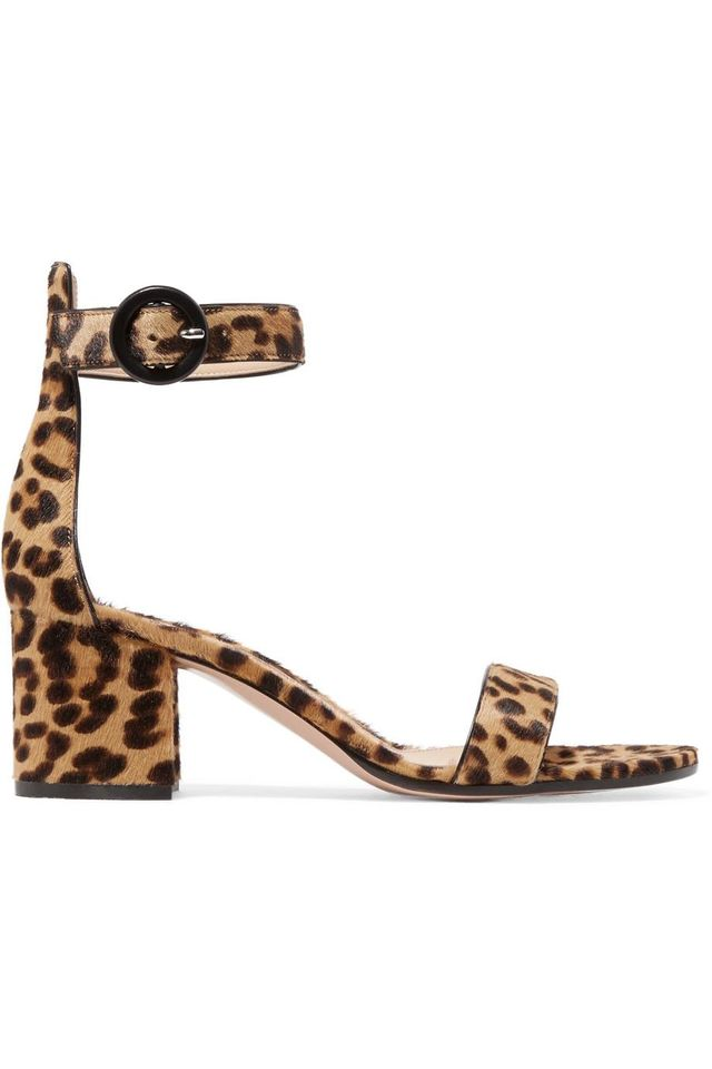 Versilia 60 Leopard-print Calf Hair Sandals